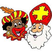 Sinterklaas en zwarte piet op bezoek