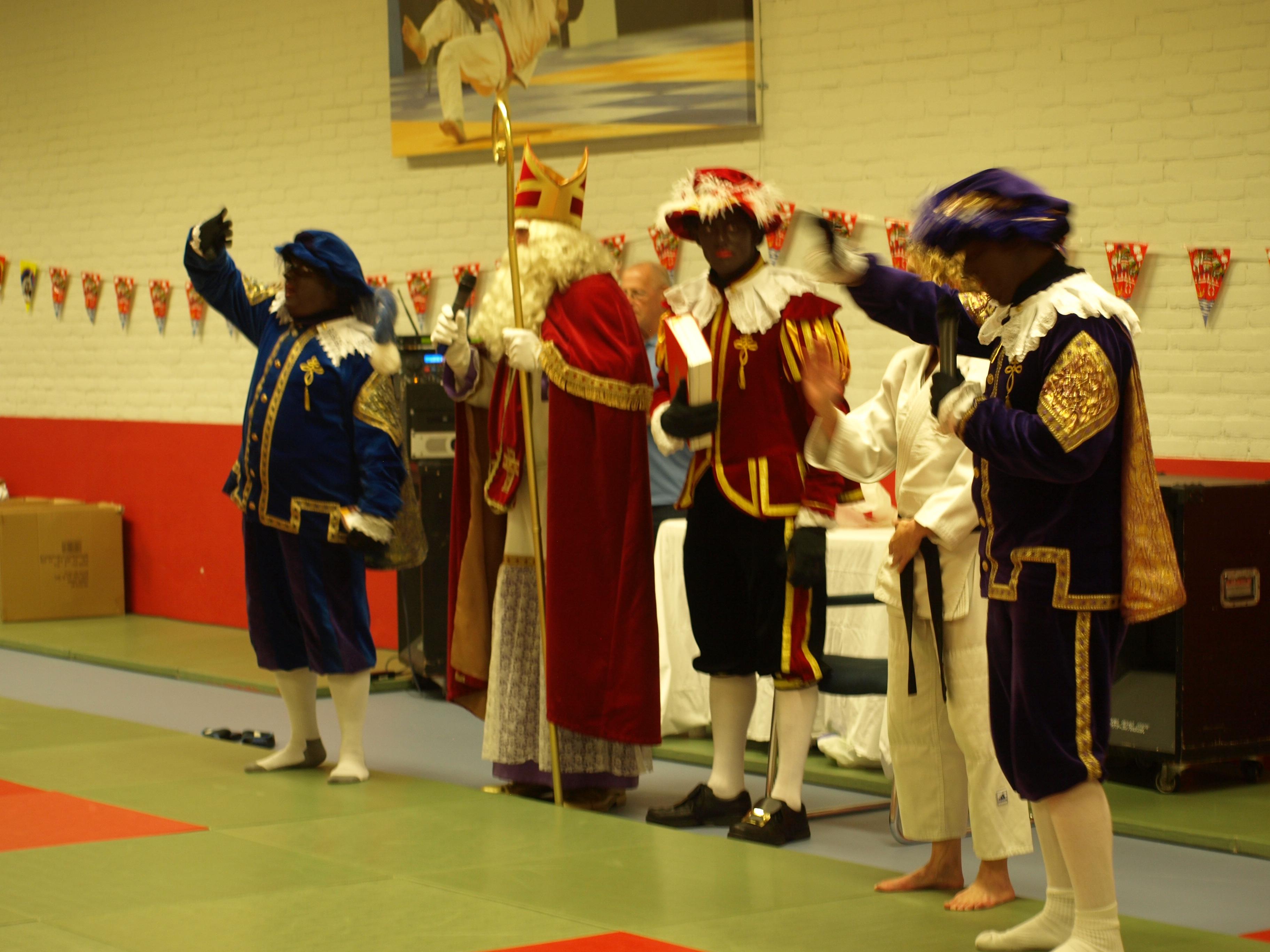 Gezellige Sinterklaas drukte op de mat