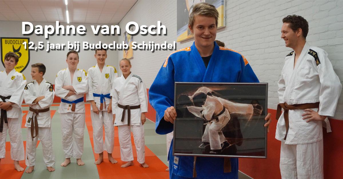 Daphne 12,5 jaar lid van Budoclub Schijndel