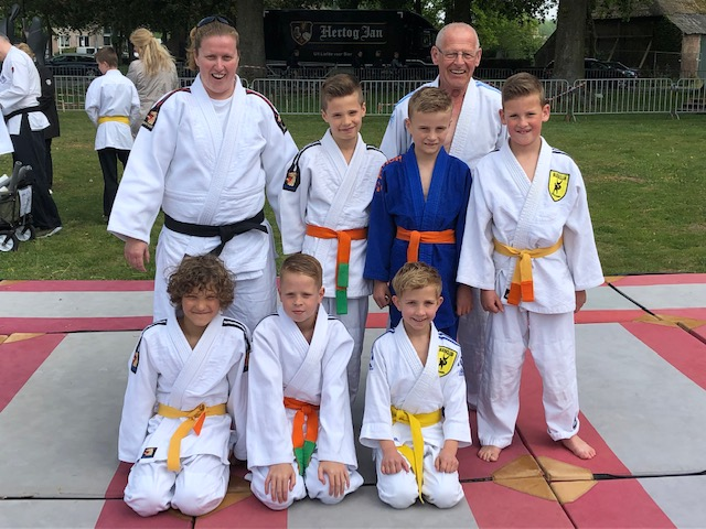 Judo demonstratie 29 april